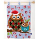 (OP=OP) Cross stitch wall hanging kit Christmas owls