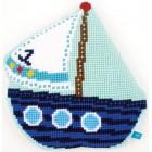 (OP=OP) Cross stitch shaped cushion kit Little boat