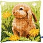 Cross stitch cushion kit Little hare
