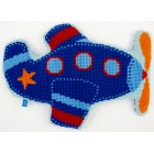 (OP=OP) Cross stitch shaped cushion kit Aeroplane I