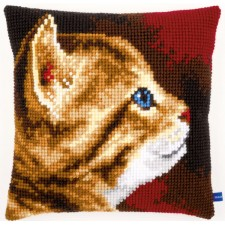 Cross stitch cushion kit Kitten I