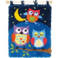 Latch hook rug kit Owls in the night