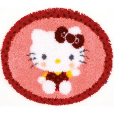 (OP=OP) Latch hook shaped rug kit Hello Kitty inthe bakery