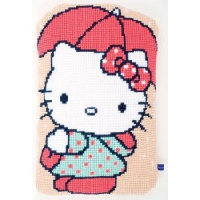 (OP=OP) Cross stitch shaped cushion kit Hello kitty