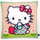Cross stitch cushion kit Hello Kitty On the lawn