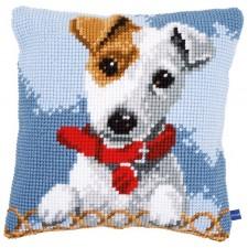 Cross stitch cushion kit Jack Russell