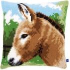 Cross stitch cushion kit Donkey