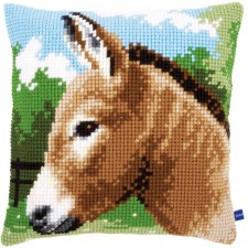 Cross stitch cushion kit Donkey