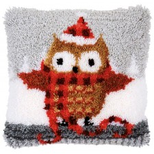 Latch hook cushion kit Christmas owl