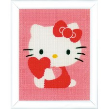 Canvas kit Hello Kitty with heart
