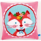 (OP=OP) Cross stitch cushion kit Laughing small fox