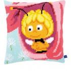 (OP=OP) Cross stitch cushion kit MDB Maya in a pink flower