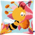 (OP=OP) Cross stitch cushion kit MDB Willy with a flower