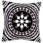 Cross stitch cushion kit Black and white