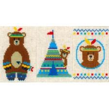 Wenskaarten Indianen beer set van 3