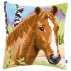 Cross stitch cushion kit Brown mare