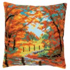 Cross stitch cushion kit Autumn landscape