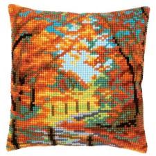 Cross stitch cushion kit Autumn landscape