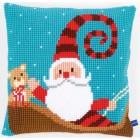 Cross stitch cushion kit Happy santa