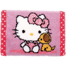 Latch hook rug kit Hello Kitty with dog