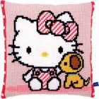 Cross stitch cushion kit Hello Kitty with dog