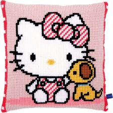 Cross stitch cushion kit Hello Kitty with dog