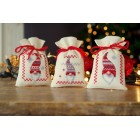 Bag kit Christmas gnomes set of 3