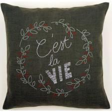 (OP=OP) Embroidery cushion kit C'est la vie