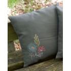 (OP=OP) Embroidery cushion kit Stylized flowers