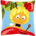 (OP=OP) Cross stitch cushion kit MDB Maya on top of apple