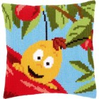 (OP=OP) Cross stitch cushion kit MDB Willy and red apple