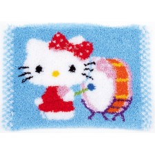 Latch hook rug kit Hello Kitty drumming
