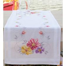 Table runner kit Colourful flowers