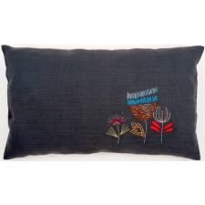 Embroidery cushion kit Stylized flowers