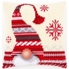 Cross stitch cushion kit Christmas elf
