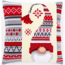 Cross stitch cushion kit Christmas elf