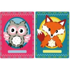 Borduurkaarten Uil en vos set van 2