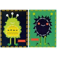 Borduurkaarten Ruimtemonsters set van 2