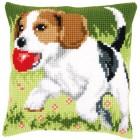 Cross stitch cushion kit Beagle