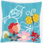 Cross stitch cushion kit Bird & butterfly