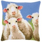 Cross stitch cushion kit Curious sheep