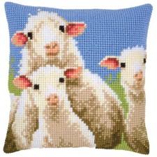 Cross stitch cushion kit Curious sheep