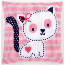 Cross stitch cushion kit Kitten