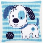 Cross stitch cushion kit Spotted little dog