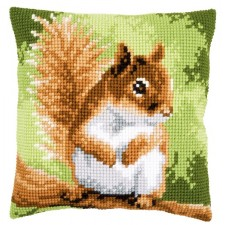 Cross stitch cushion kit Squirrel