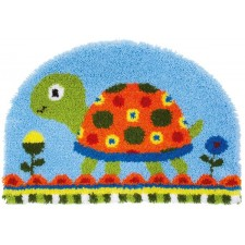 Latch hook shaped rug kit Turtle