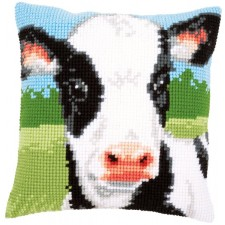 Cross stitch cushion kit Cow