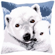 Cross stitch cushion kit Polar bear