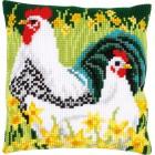 Cross stitch cushion kit Chickens