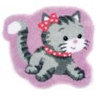 (OP=OP) Latch hook shaped rug kit Cat